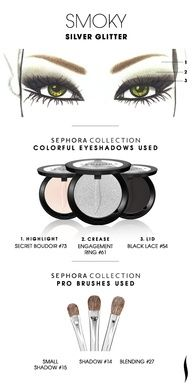 SMOKY: Silver Glitter HOW TO. #sephoracollection #sephora #eyeshadow