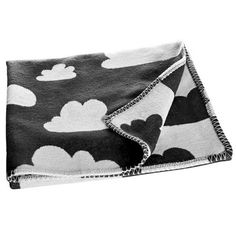 Black and white cloud cotton baby blanket by Gunila Axen for Farg&Form