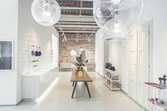 Phenomena cut collection by BOMMA in the new design store Deelive in the centre of Prague. Contemporary Architecture, Contemporary Design, Simple Shapes, Different Colors, House Design, Ceiling Lights, Colours, The Originals, Prague