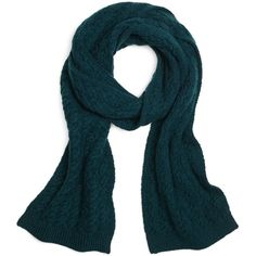 Brooks Brothers Cable Knit Scarf (15.775 RUB) ❤ liked on Polyvore featuring accessories, scarves, teal, cable knit scarves, cable knit shawl, brooks brothers, teal scarves and teal shawl