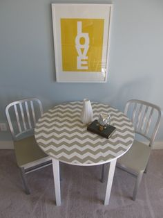 chevron table - DIY