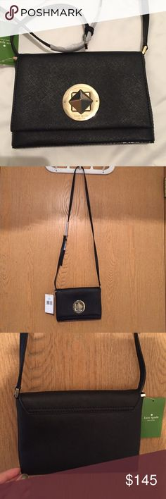 Host pickNWT Kate spade crossbody bag New with tags black Kate spade cross body bag. Feel free to make an offer, price is negotiable:) kate spade Bags Crossbody Bags