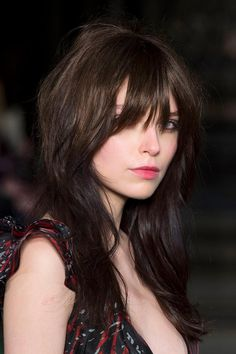 """Growing Out Your Bangs? Try these 5  Hairstyles - The sweet spot of the """"grown-out bangs"""" look. This very Jane Birkin-esque way to wear your bangs looks so boho-chic."""