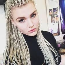 Afbeeldingsresultaat voor blonde white girls box braids