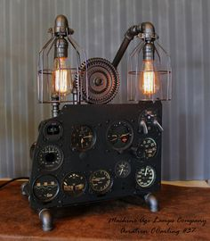 Vintage World War II Military Aircraft  Instrument Control Panel Lamp CC #37