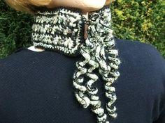 Beautiful Collar/Scarflet in Blacks & Greens by GreatGreenDreams, £12.00