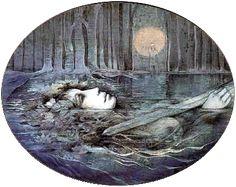 Viviane alias « Lady of the Lake » - 1982 Comme c'est le cas dans plusieurs traditions où la royauté est accordée par une déesse, la Dame du lac, une mystérieuse divinité celtique, investit Arthur de la puissance royale et du droit de régner en lui faisant don de l'épée Excalibur.