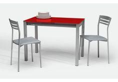 minimalista y practica mesa de cocina con encimera cristal ampliable y al mejor precio online con encimera cristal