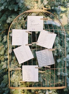 Wedding Ideas - Keep it Cute & Simple: Seating Chart | Photography: Brett Heidebrecht | More on SMP: http://www.StyleMePretty.com/2014/01/14/castle-cliff-estate-wedding-part-ii/