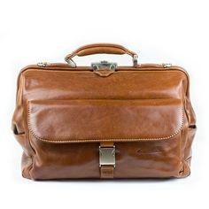 Leather medical bag.