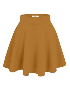 $9.99                                 Simlu Womens Skater Skirt, A Line Flared Skirt Reg & Plus Size Skater Skirts USA at Amazon Women's Clothing store: