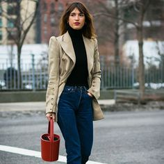 New York Fashion Week Fall 2017 Street Style: Jeanne Damas Style Casual, Casual Look, Style Me, Style Hair, Preppy Style, Fashion Week, Winter Fashion, Girl Fashion, Fashion Outfits