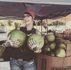 Danielle and her melons