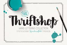 Thriftshop Hand Lettering Collection by MakeMediaCo. on Creative Market