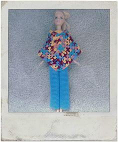 Crochet - Barbie's Multi Colored Poncho