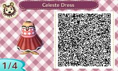 """tympaniac: """" Celeste Dress QR Code for Animal Crossing: New Leaf by Piper Bell Commissions: 300K """""""