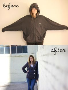 hoodie tutorial…gonna make one..to have a coat that is long enough for my arms