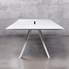 New office meeting table or boardroom table in White laminate with A frame legs is stunning - ARKI TABLE Boardroom Furniture