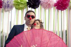 El photocall de Marina + Toni uno de los más coloridos y divertidos {Foto, Arberas Ruso}