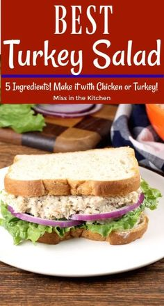 Turkey Salad {VIDEO} – Miss in the Kitchen It just doesn't get any easier than this Turkey Salad for your Thanksgiving leftovers. This literally comes together in less than five minutes. Easy recipe that works with leftover turkey or leftover chicken. Leftover Turkey Curry, Easy Leftover Turkey Recipes, Leftover Turkey Casserole, Thanksgiving Leftover Recipes, Leftovers Recipes, Thanksgiving Leftovers, Turkey Leftovers, Thanksgiving Desserts, Christmas Desserts