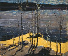 Tom Thomson, Moonlight Birches 1915