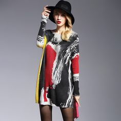2016 new Print Women's Sweaters Pullovers Fashion