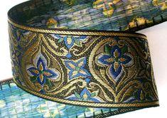 Fabulous Renaissance Style Woven Jacquard 2 3/8 x 1