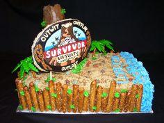 Survivor Cake by doughdoughsbakery