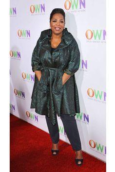 Celebrity Shoe Sizes - Stars with Big Feet -  Oprah Winfrey Size 11