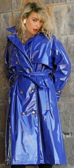 .Blue pvc mackintosh
