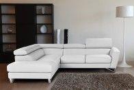 SPARTA - Leather Sectional | White | NicolettiCalia