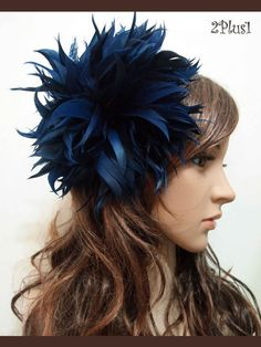 New Old Navy Feather Fascinator Hair Clip Wedding Party Prom