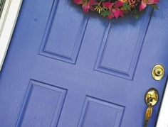 My newly-painted front door (done in Benjamin Moore's Blue Lapis). Every time I see it, it makes me happy