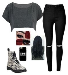 """""""Untitled#87"""" by autumn-latte777 ❤ liked on Polyvore featuring Dr. Martens and Casetify"""