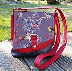 genähte Handtasche aus Softshell und Kunstleder Dea Tasche