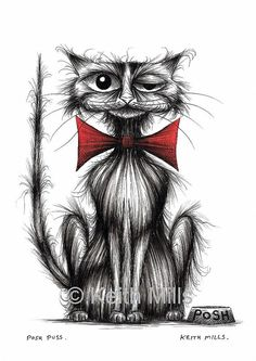 Posh puss Print download by KeithMills on Etsy, £3.00