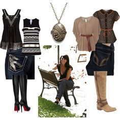casual Ghost Whisperer outfits, created by seganthro on Polyvore