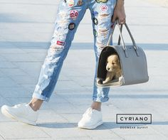 Cool and Ready! #AnetteBag #CyrianoBag #Cyriano #Dogbag #Puppybag #SS16Cyriano