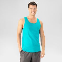 Fruit of the Loom Men's Tank Top - Jubilant Turquoise XL