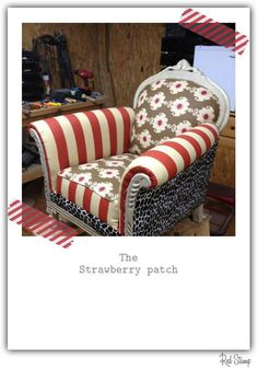 upholstered chair...oh my! What pattern combinations!