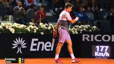 R. Nadal vs S. Wawrinka | 2015 Rome Masters | QF, Highlights