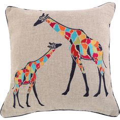 Levtex Home Marne Giraffe Sparkle Burlap Pillow ($25) ❤ liked on Polyvore featuring home, home decor, throw pillows, giraffe throw pillow, burlap throw pillows, textured throw pillows, giraffe home decor and burlap home decor