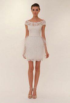 Brides: Short Wedding Dresses | Wedding Dresses and Style | Brides.com    Love it, minus the tulle.