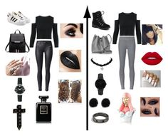"""I'm sorry but I love black"" by richierichrida on Polyvore featuring adidas Originals, Movado, NoHours, ATM by Anthony Thomas Melillo, G.H. Bass & Co., Lancaster, CLUSE and Nicki Minaj"