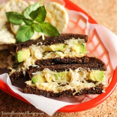 Grilled Sauerkraut Avocado Sandwich by Dizzy Busy and Hungry