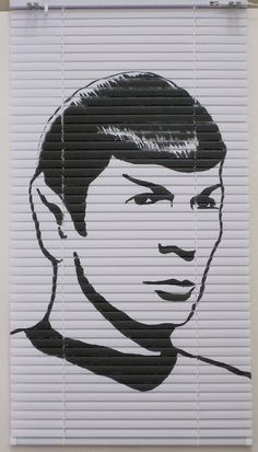 We're kind of in love with this custom StarTrek Spock window shade - what room would you put this in?