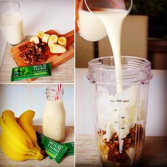 It's Wild Thing smoothie time! This time feat our coconut and chia bar and bananas! Check out our Facebook (wildthingpaleo) for the full recipe #paleo #wildthingpaleo #recipe #smoothie #healthyeating #banana #fruit #coconut #chia #paleobar #cleaneating #vegan #glutenfree #raw #organic #natural #healthy #dessert #breakfast