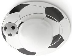 Plafón techo pelota de fútbol.