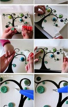 Simple Canvas Art With Buttons