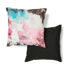 Watercolour Print Cushion - Reversible Option for Bed 2 - need 2 Outdoor Cushions, Floor Cushions, Chair Cushions, Bedding Shop, Linen Bedding, Roomspiration, Printed Cushions, Home Entertainment, Watercolor Print